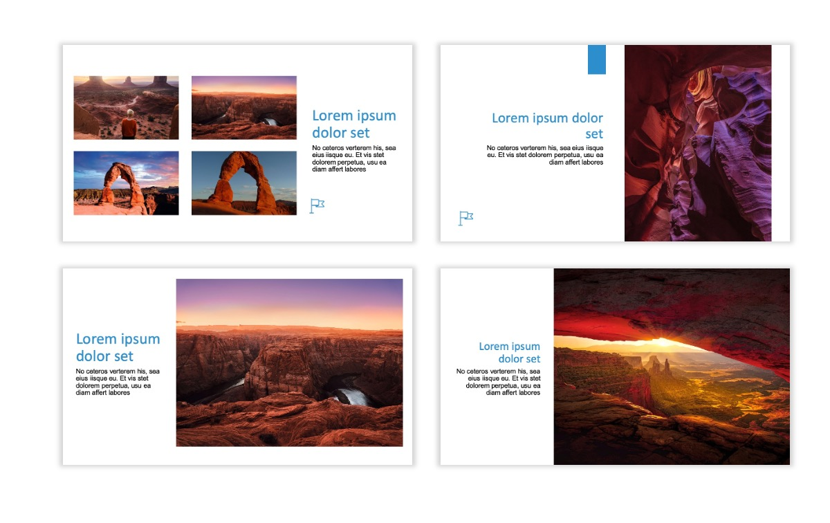 ROME - Canyon - Blue - Aesthetic - Clean - Minimal Slide 5