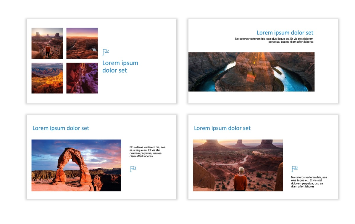 ROME - Canyon - Blue - Aesthetic - Clean - Minimal Slide 6