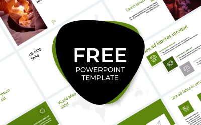 ROME CANYON GREEN FREE POWERPOINT TEMPLATE