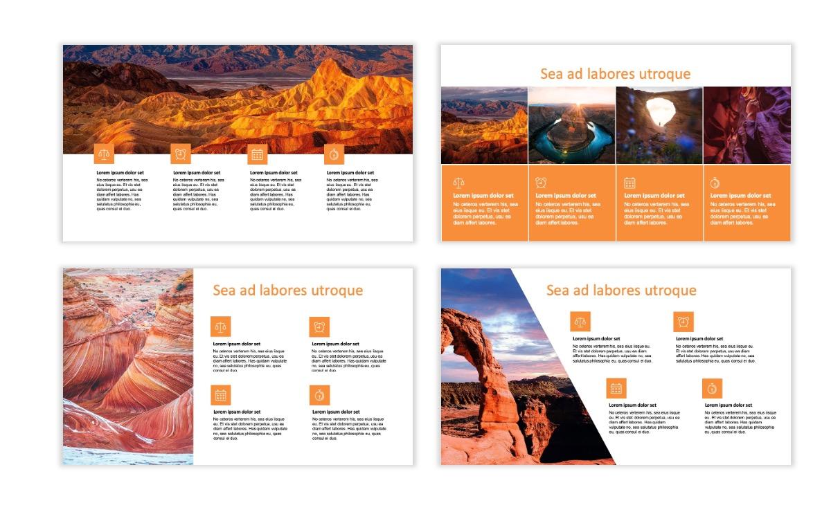 ROME - Canyon - Orange - Aesthetic - Clean - Minimal Slide 13