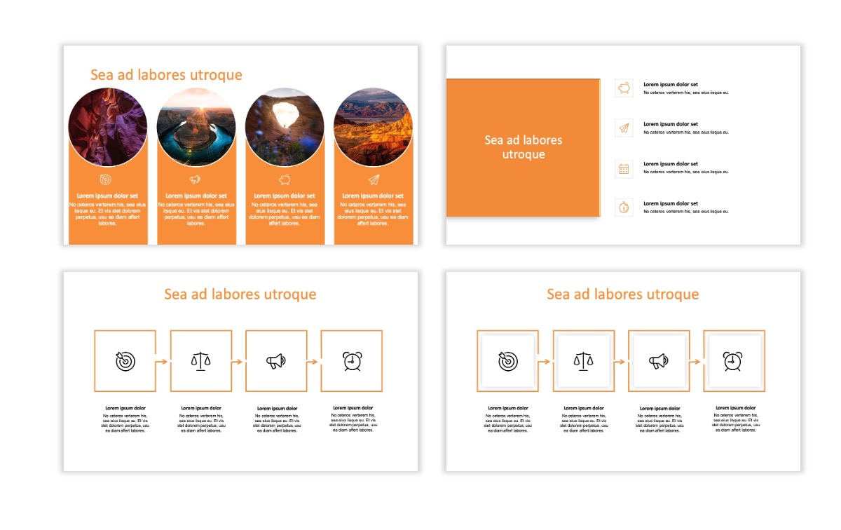ROME - Canyon - Orange - Aesthetic - Clean - Minimal Slide 14