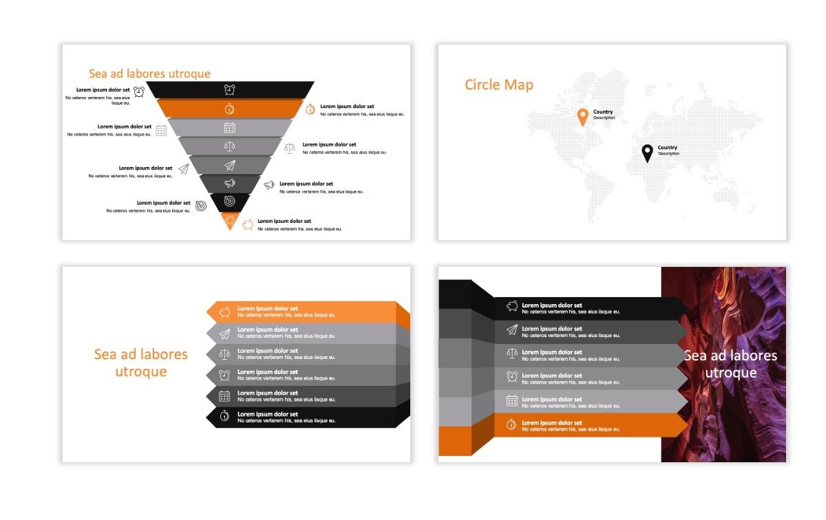 ROME - Canyon - Orange - Aesthetic - Clean - Minimal Slide 22