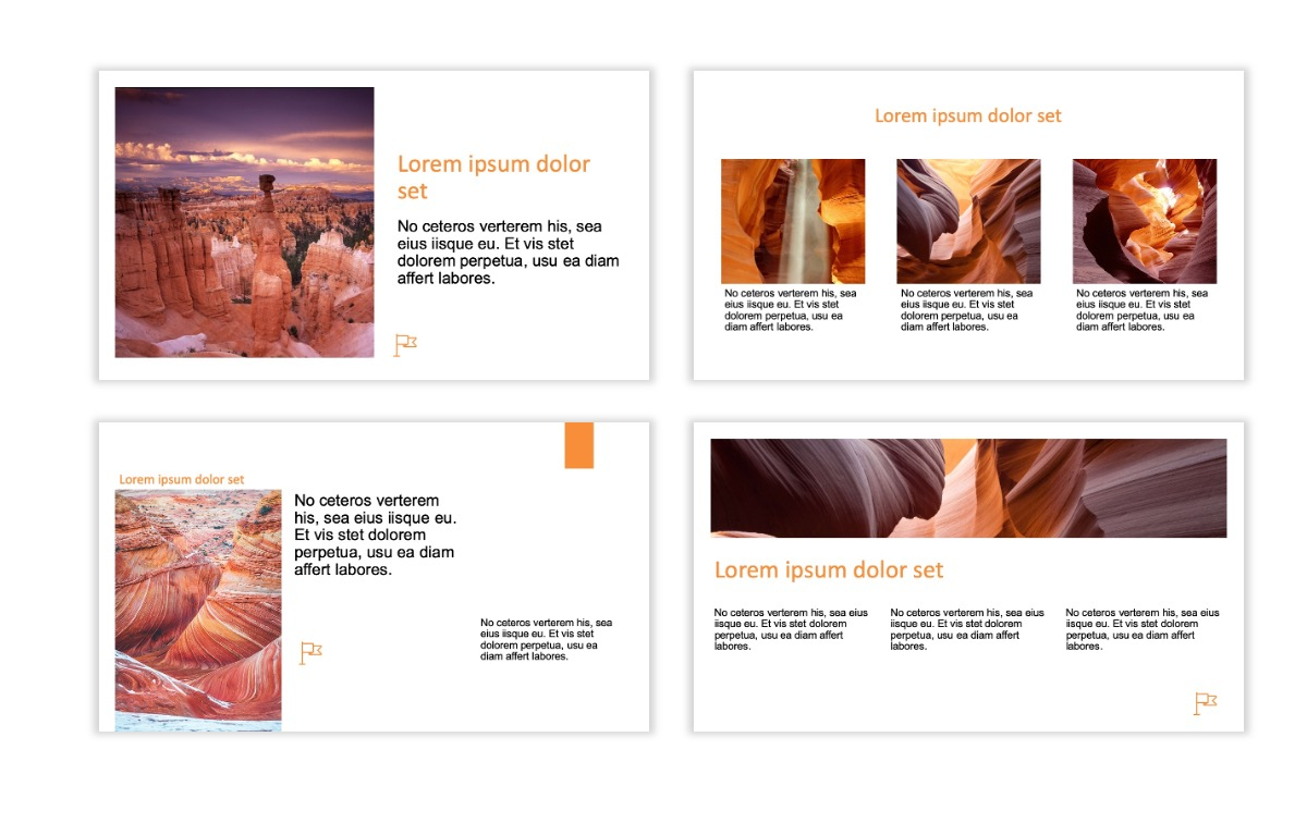 ROME - Canyon - Orange - Aesthetic - Clean - Minimal Slide 3