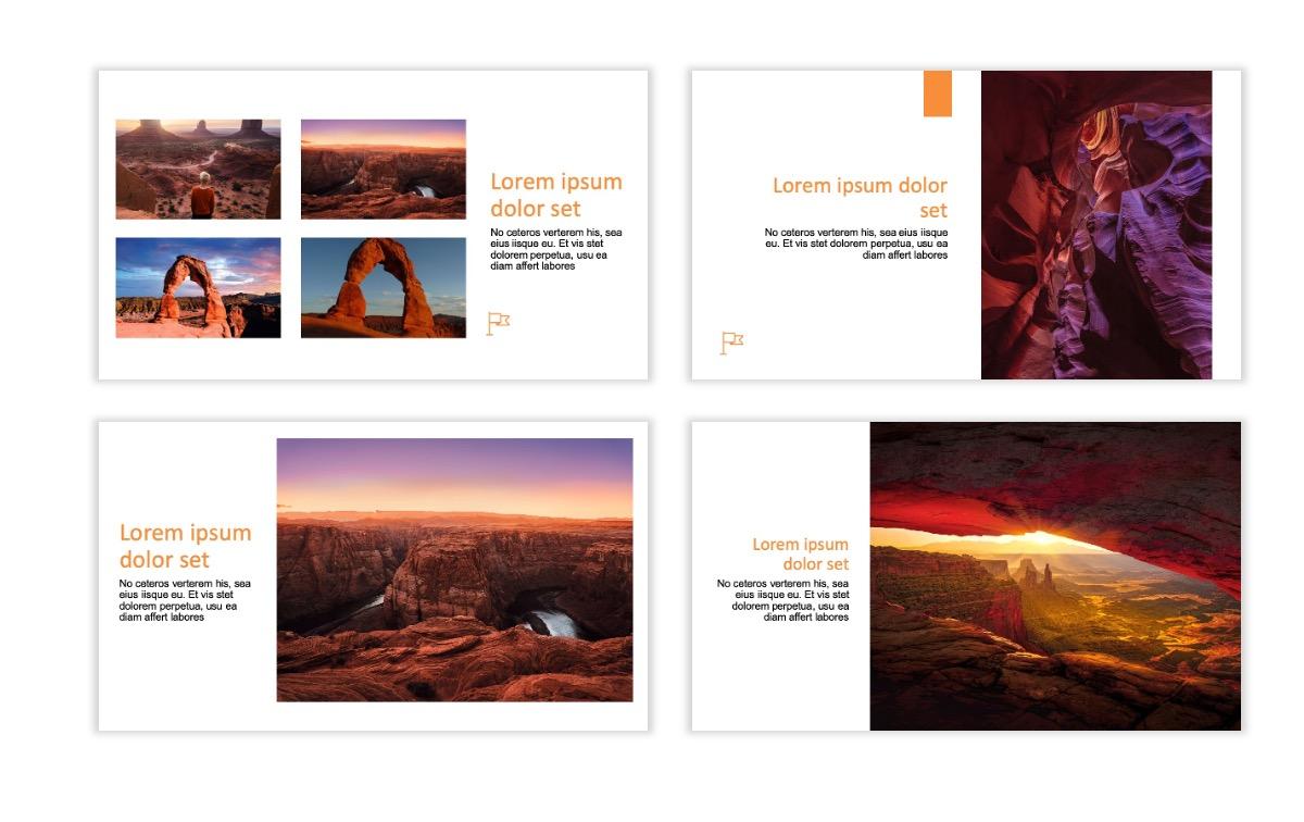 ROME - Canyon - Orange - Aesthetic - Clean - Minimal Slide 5