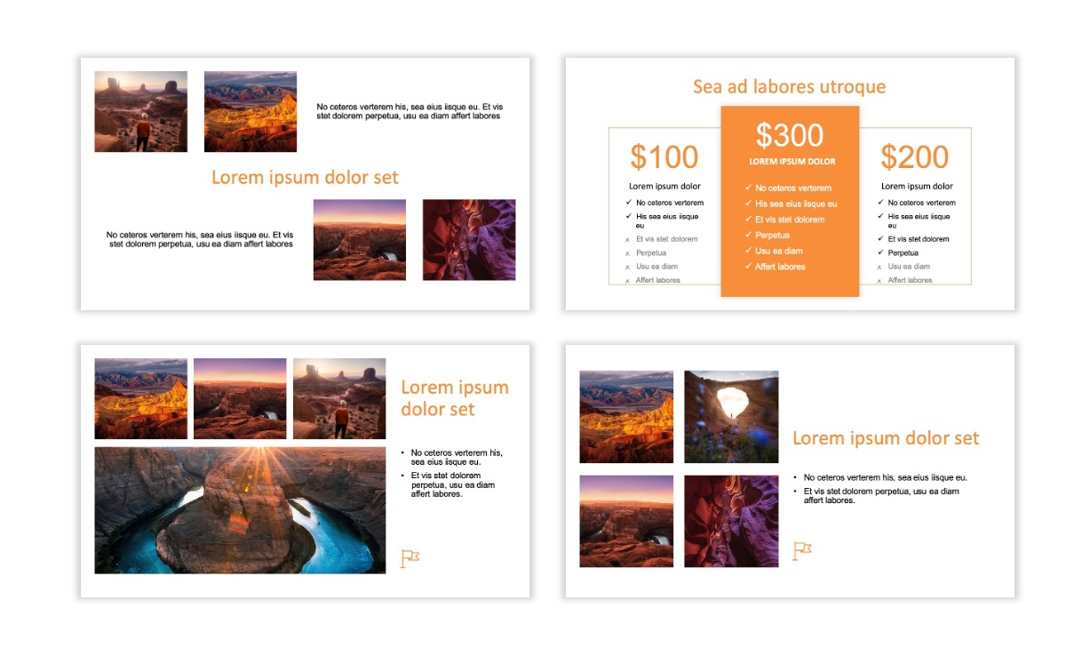 ROME - Canyon - Orange - Aesthetic - Clean - Minimal Slide 7