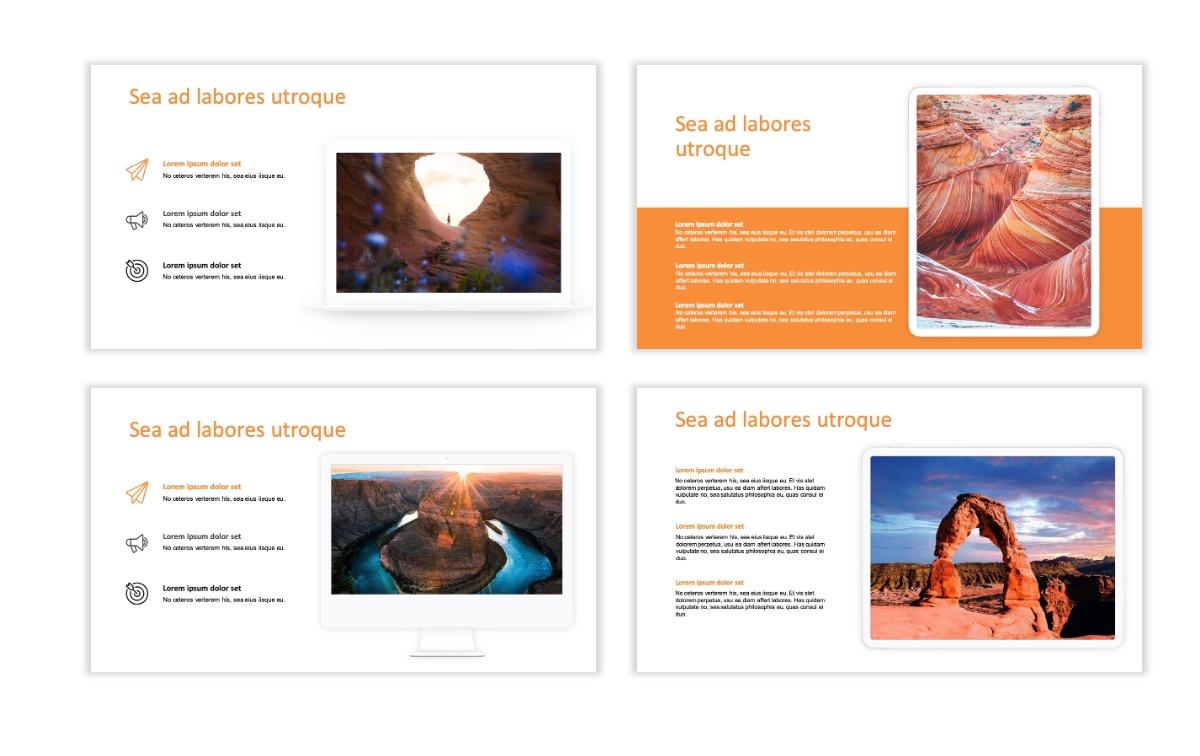 ROME - Canyon - Orange - Aesthetic - Clean - Minimal Slide 9