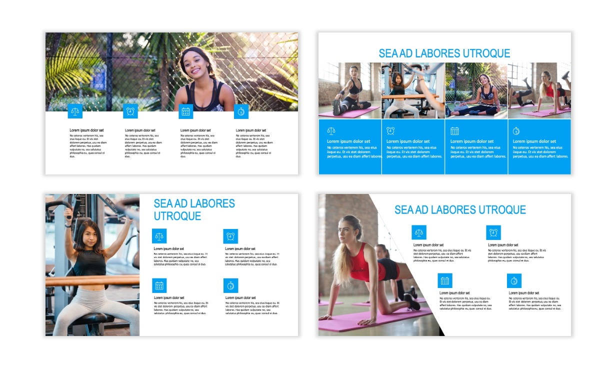 ROME - Fitness - Blue - Aesthetic - Clean - Minimal Slide 13