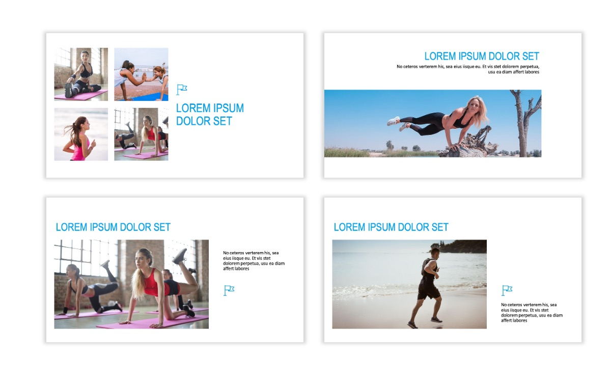 ROME - Fitness - Blue - Aesthetic - Clean - Minimal Slide 6