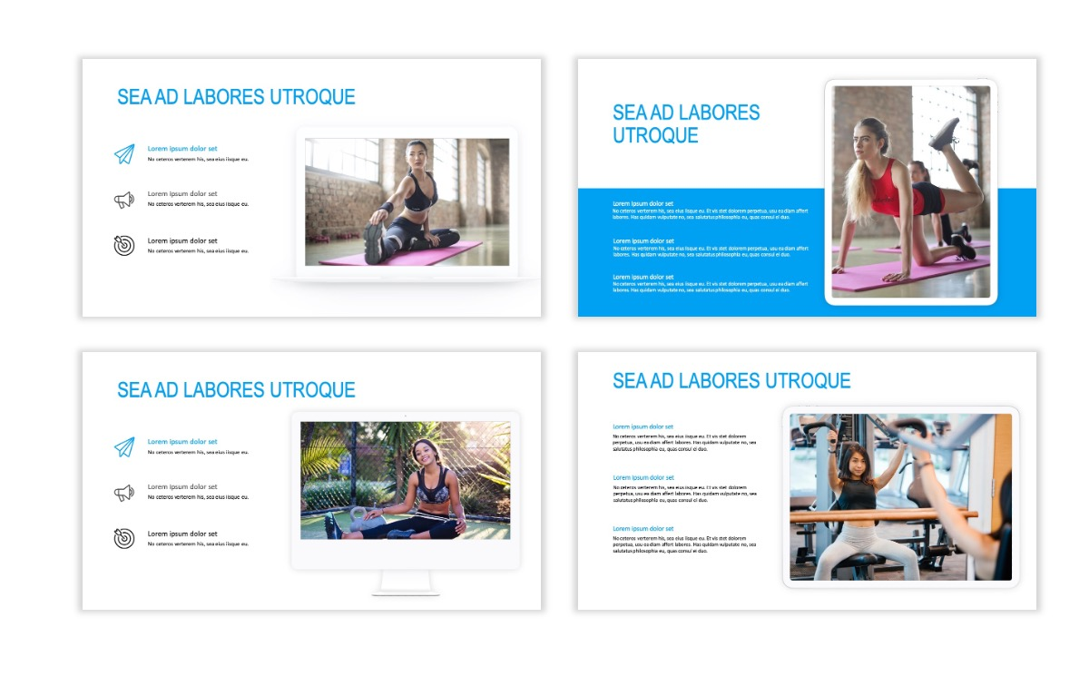 ROME - Fitness - Blue - Aesthetic - Clean - Minimal Slide 9