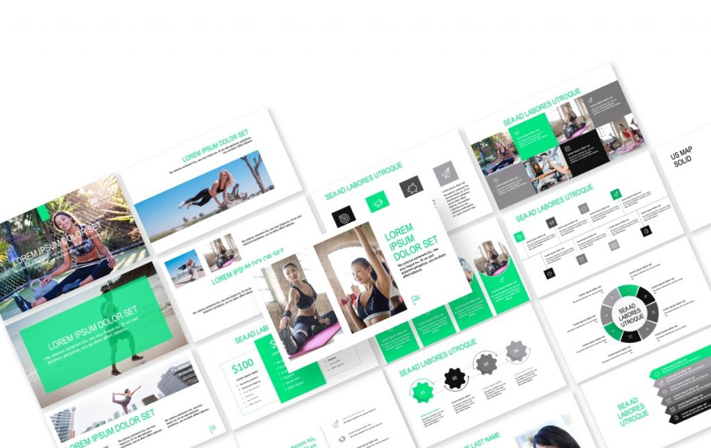 ROME GREEN FITNESS FREE POWERPOINT TEMPLATE