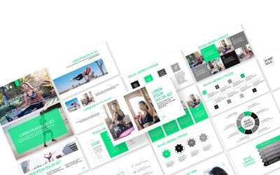 ROME FITNESS GREEN FREE POWERPOINT TEMPLATE