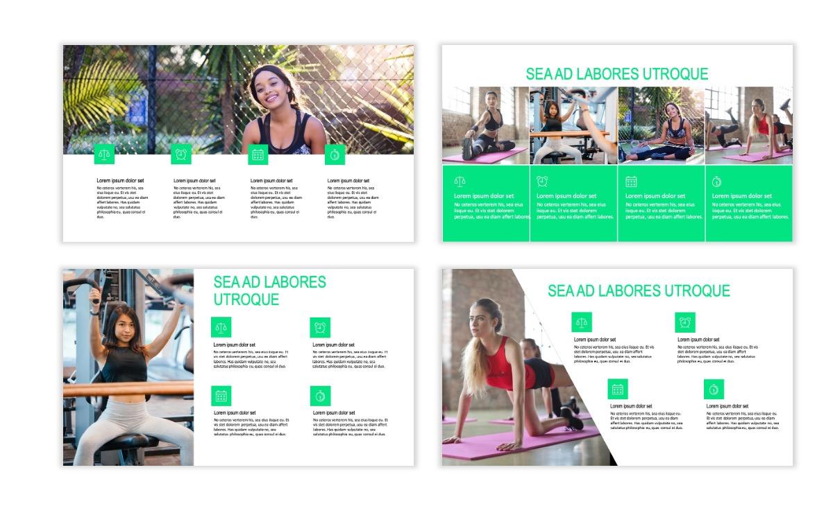 ROME - Fitness - Green - Aesthetic - Clean - Minimal Slide 13