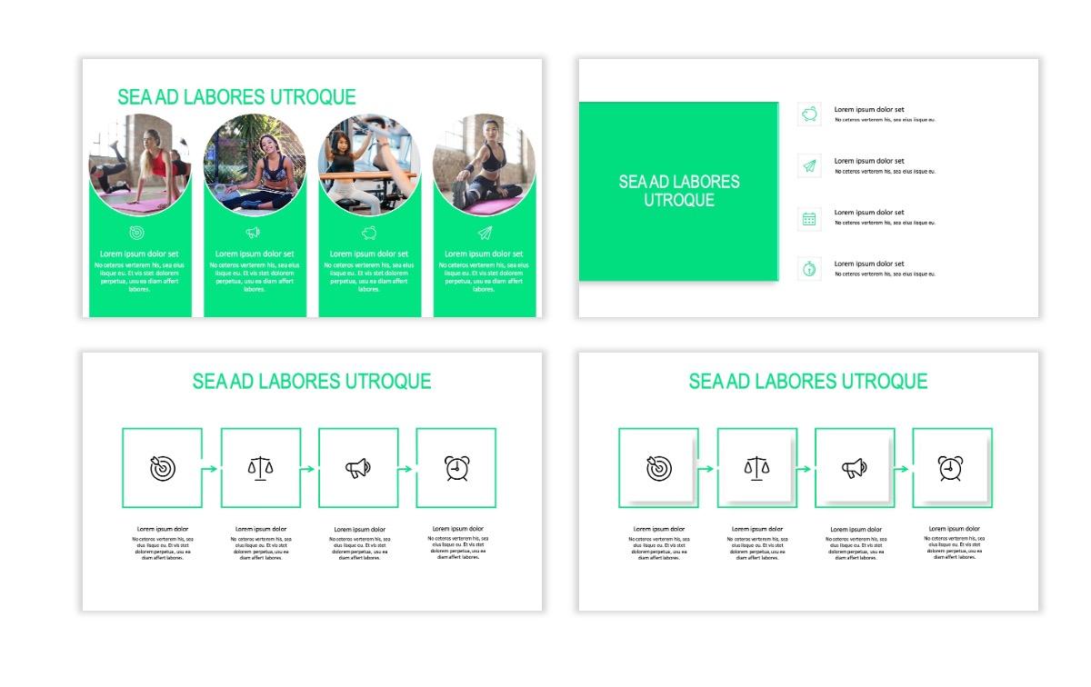 ROME - Fitness - Green - Aesthetic - Clean - Minimal Slide 14
