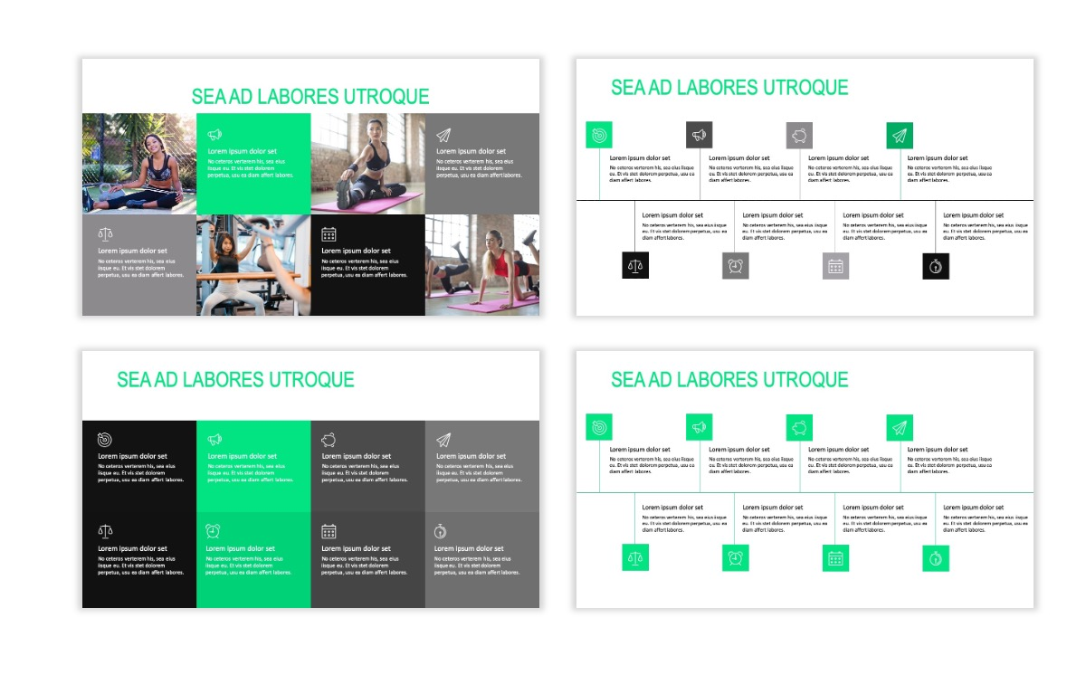 ROME - Fitness - Green - Aesthetic - Clean - Minimal Slide 18