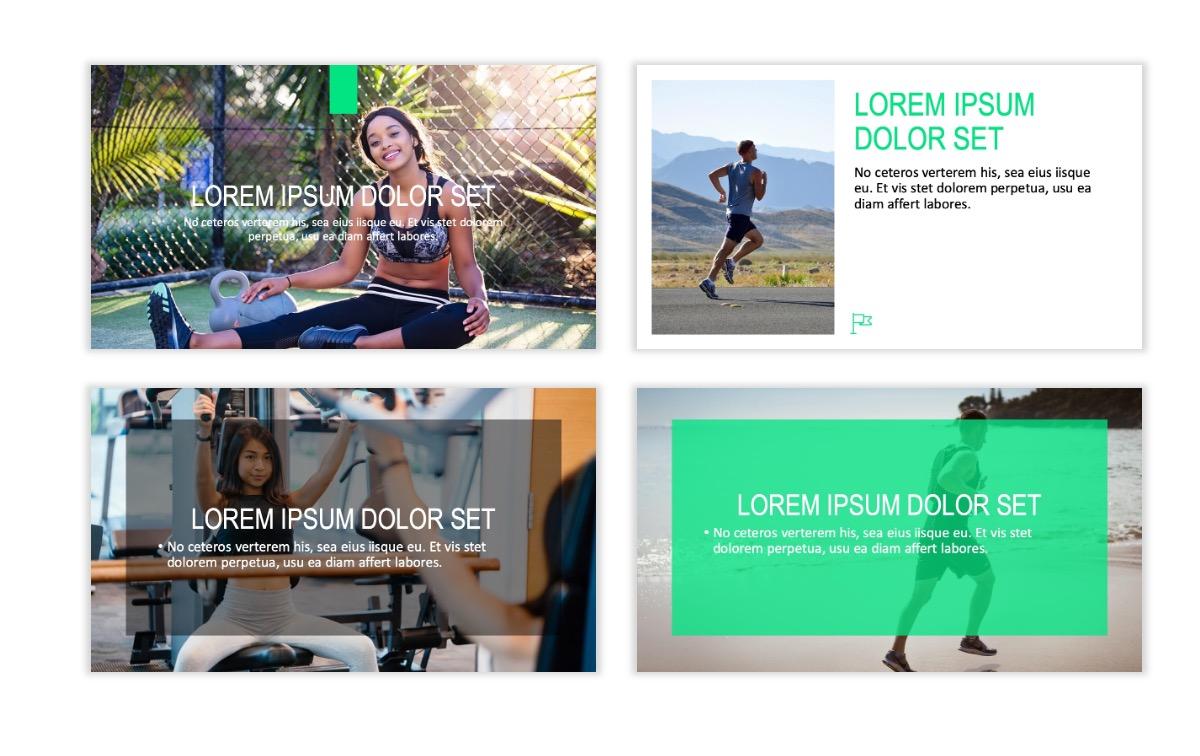 ROME - Fitness - Green - Aesthetic - Clean - Minimal Slide 2