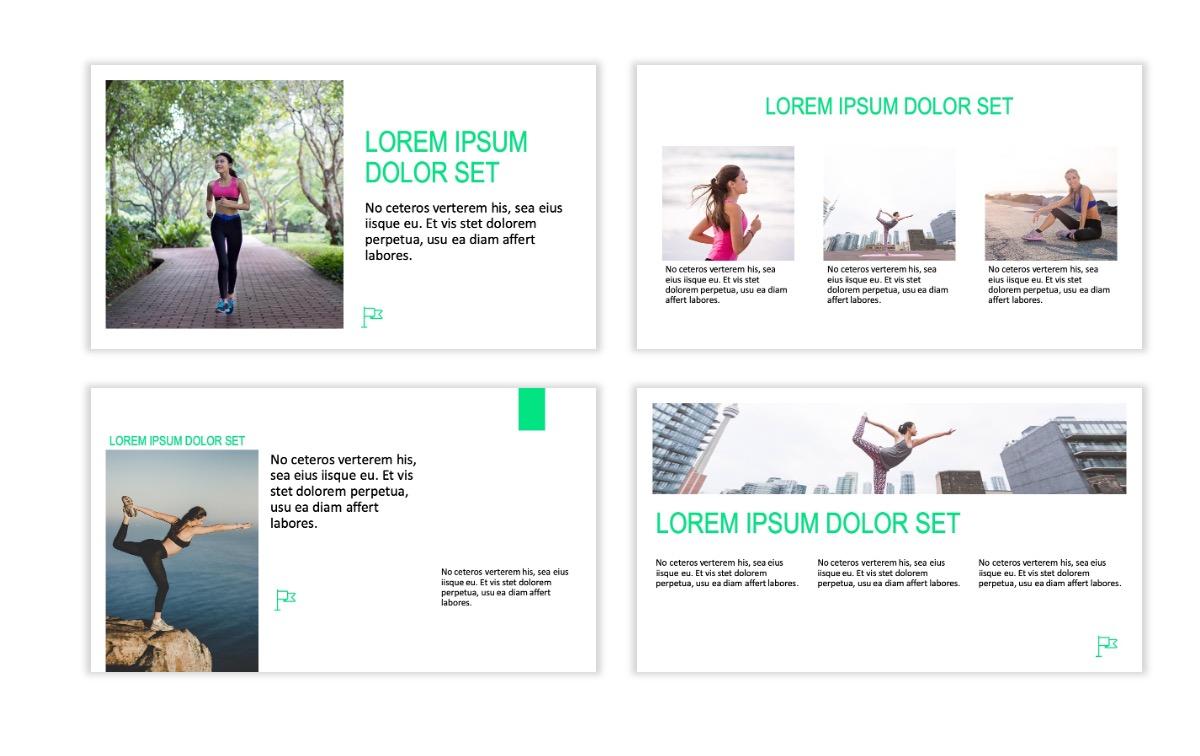 ROME - Fitness - Green - Aesthetic - Clean - Minimal Slide 3