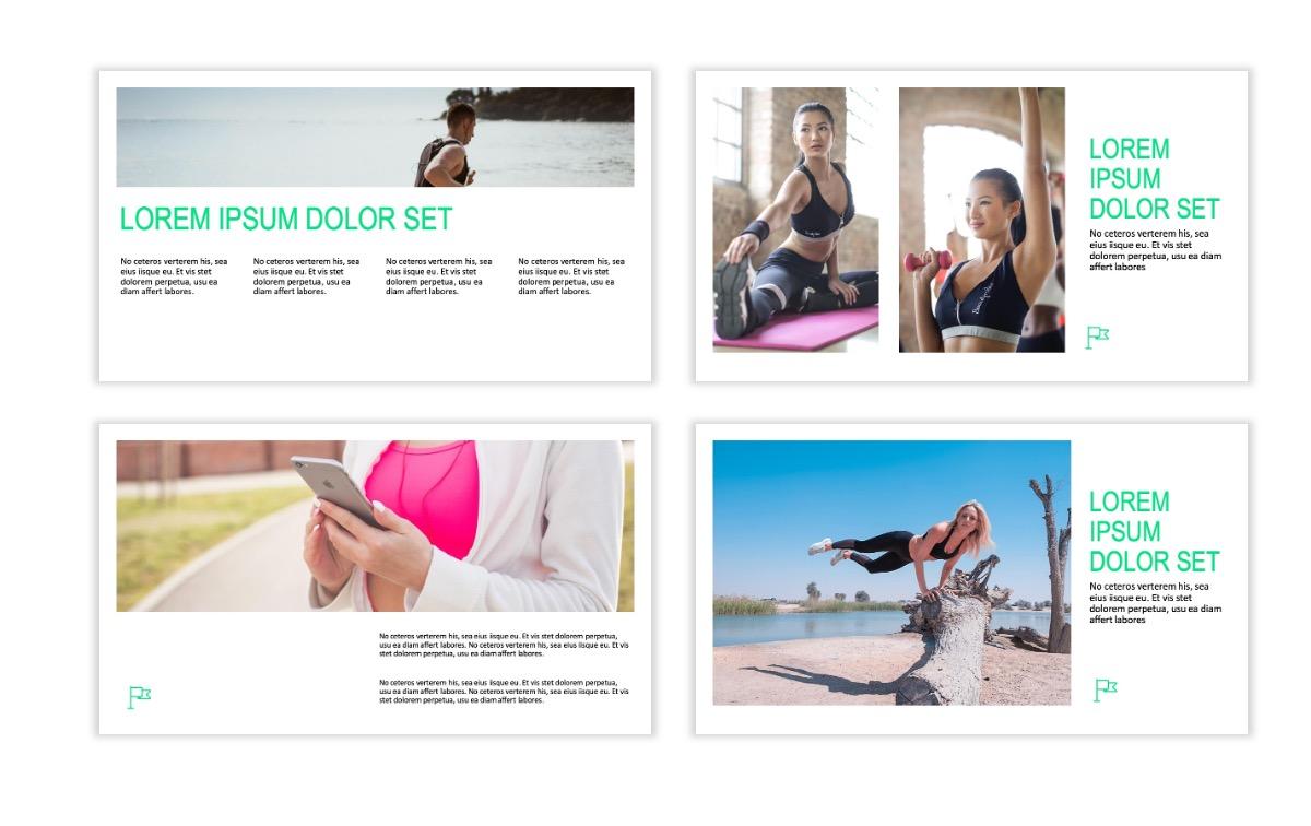ROME - Fitness - Green - Aesthetic - Clean - Minimal Slide 4