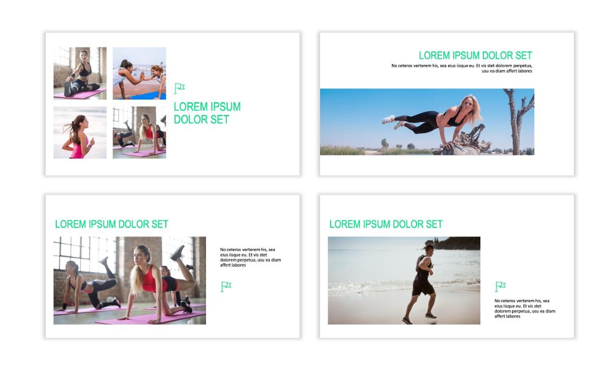 ROME - Fitness - Green - Aesthetic - Clean - Minimal Slide 6