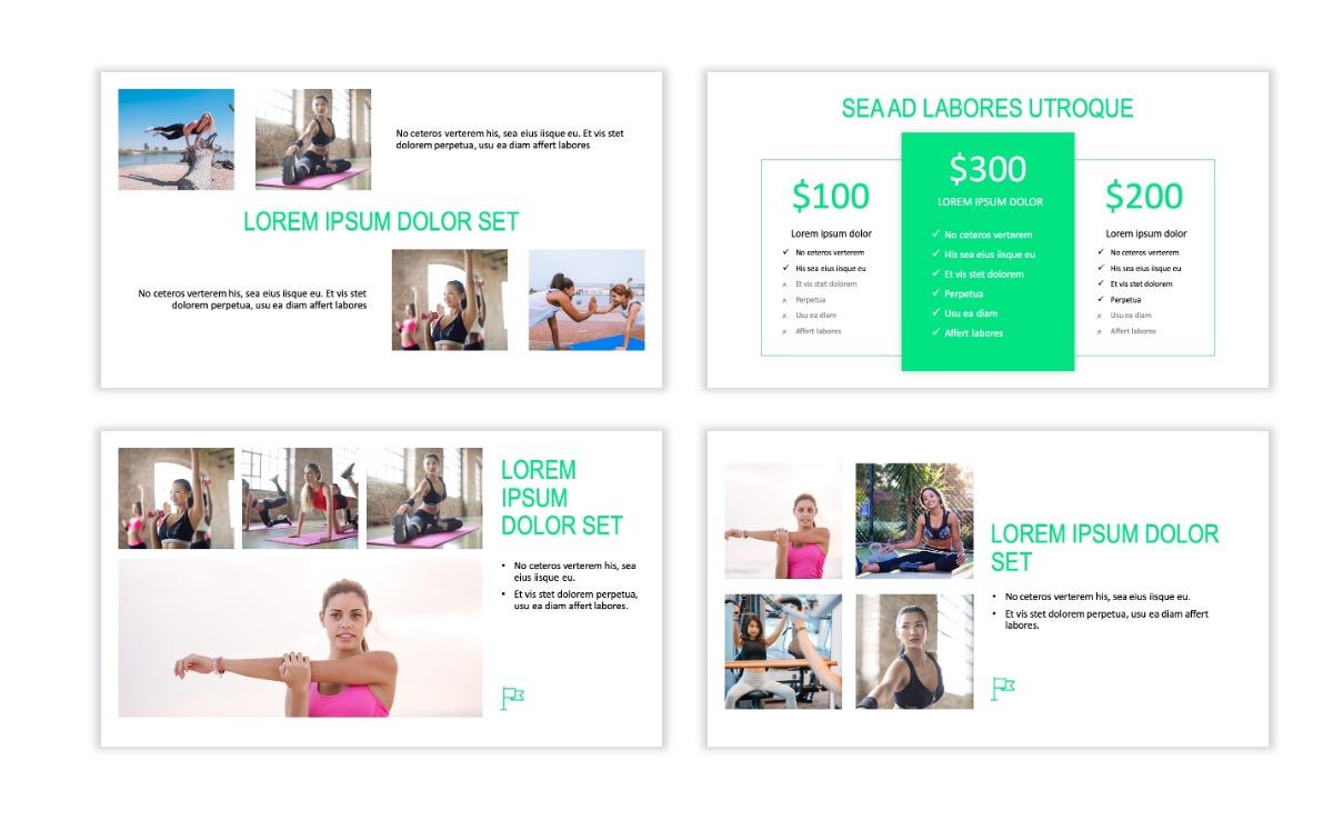ROME - Fitness - Green - Aesthetic - Clean - Minimal Slide 7