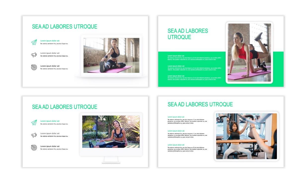 ROME - Fitness - Green - Aesthetic - Clean - Minimal Slide 9