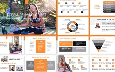 ROME FITNESS ORANGE FREE POWERPOINT TEMPLATE