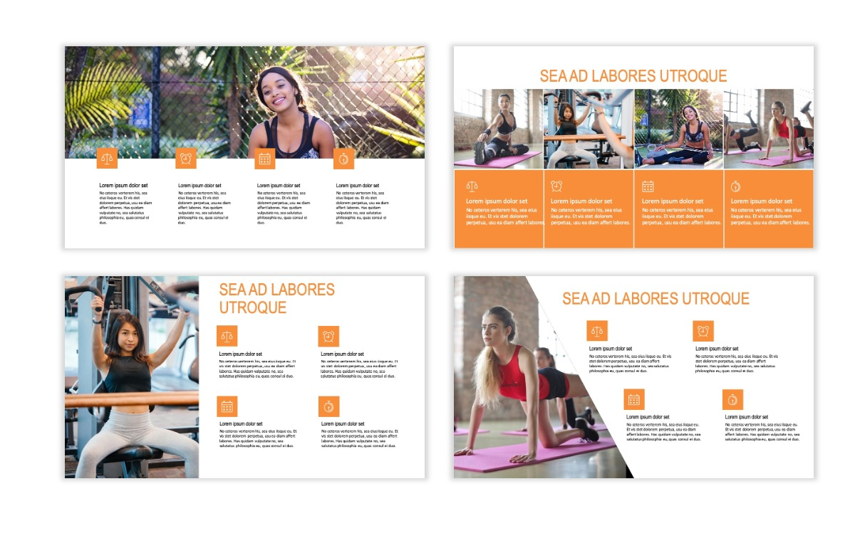 ROME - Fitness - Orange - Aesthetic - Clean - Minimal Slide 13