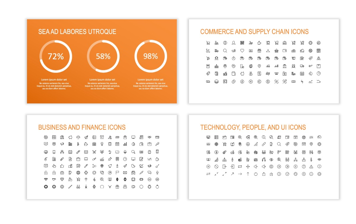 ROME - Fitness - Orange - Aesthetic - Clean - Minimal Slide 25