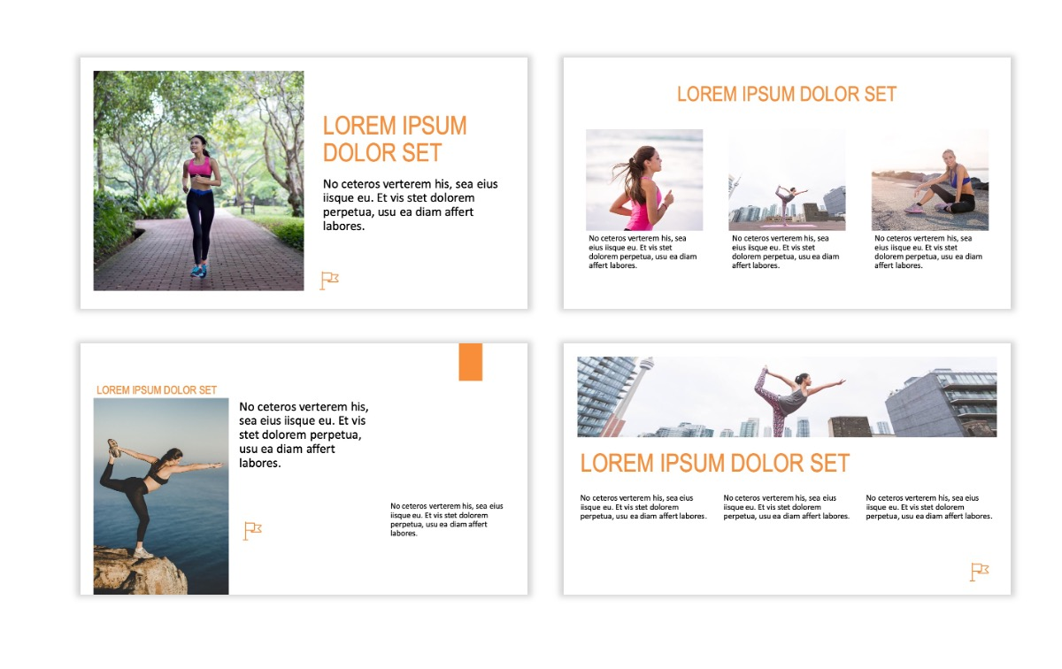 ROME - Fitness - Orange - Aesthetic - Clean - Minimal Slide 3
