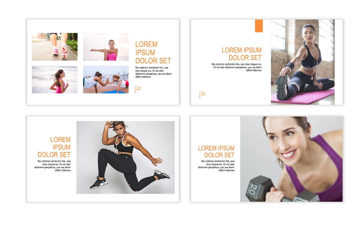 ROME - Fitness - Orange - Aesthetic - Clean - Minimal Slide 5