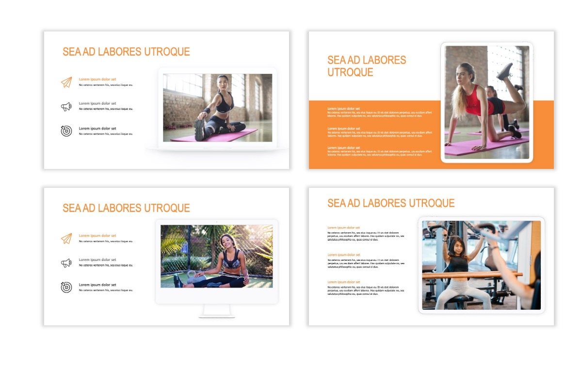 ROME - Fitness - Orange - Aesthetic - Clean - Minimal Slide 9