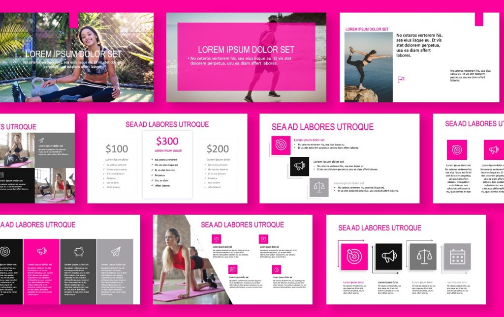 ROME PINK FITNESS FREE POWERPOINT TEMPLATE