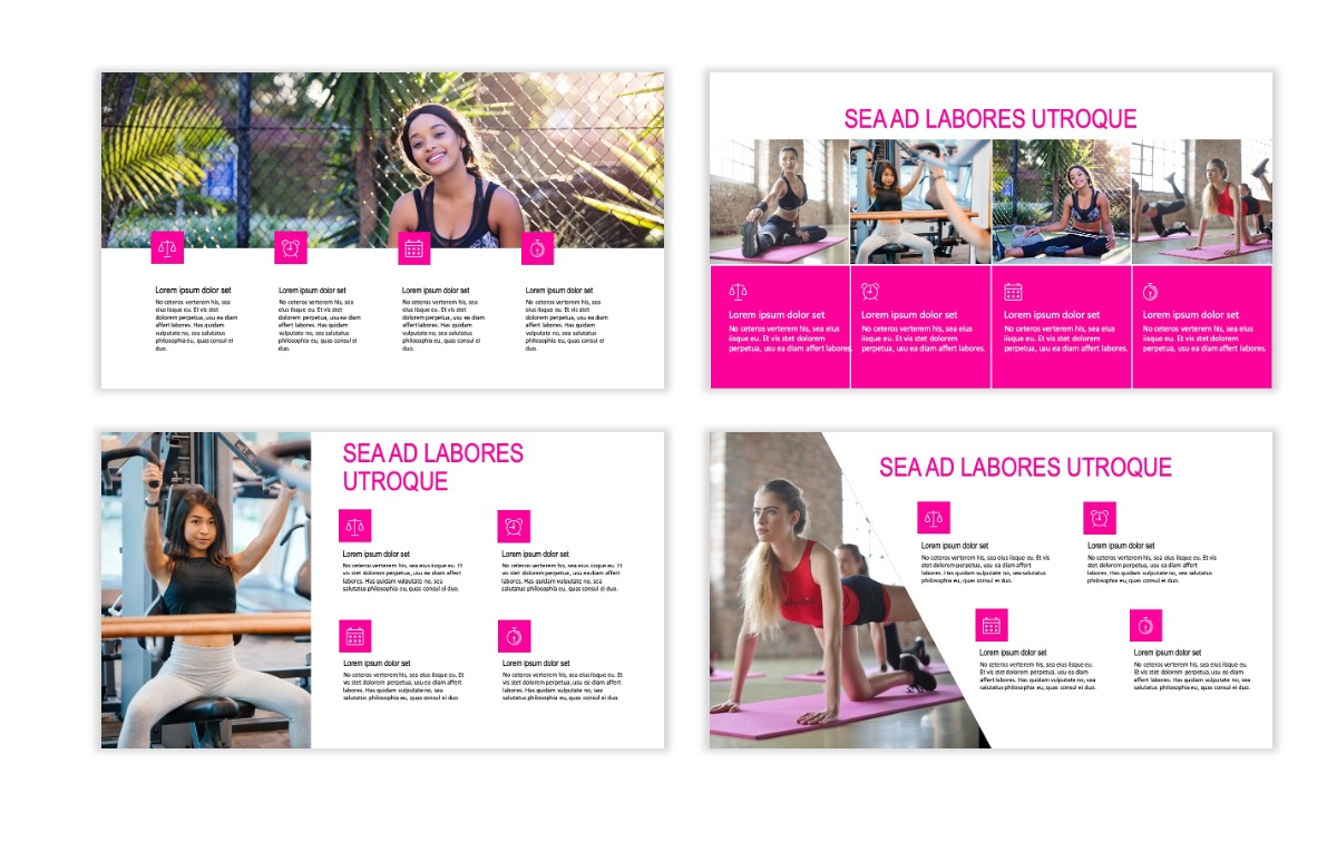 ROME - Fitness - Pink - Aesthetic - Clean - Minimal Slide 13
