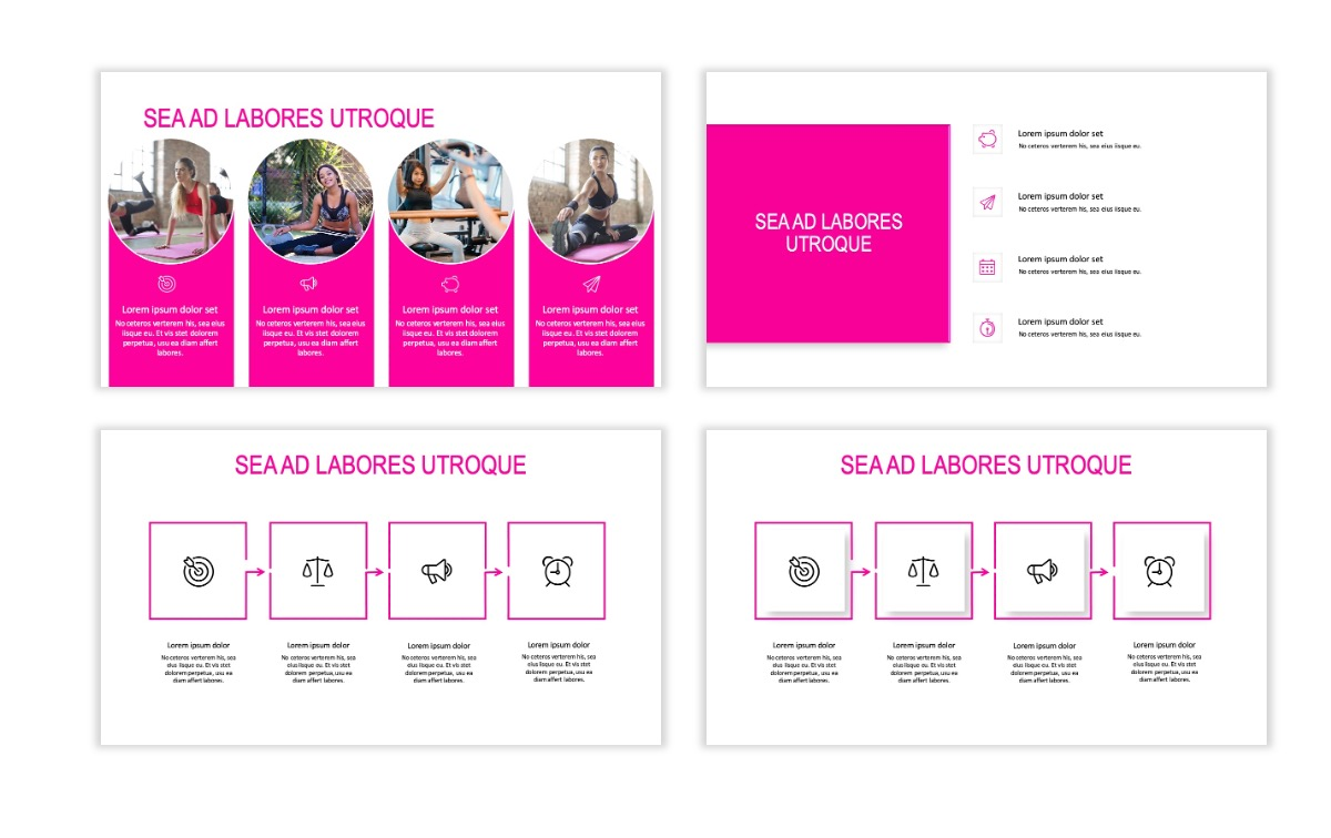 ROME - Fitness - Pink - Aesthetic - Clean - Minimal Slide 14