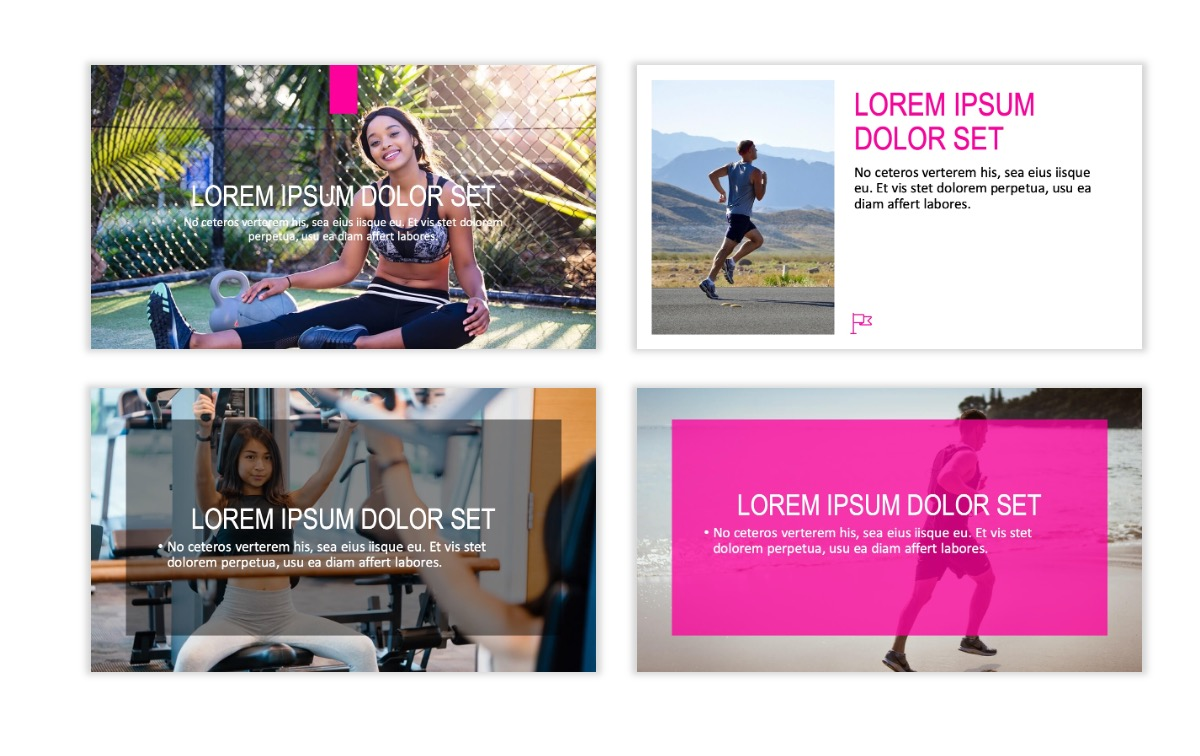 ROME - Fitness - Pink - Aesthetic - Clean - Minimal Slide 2