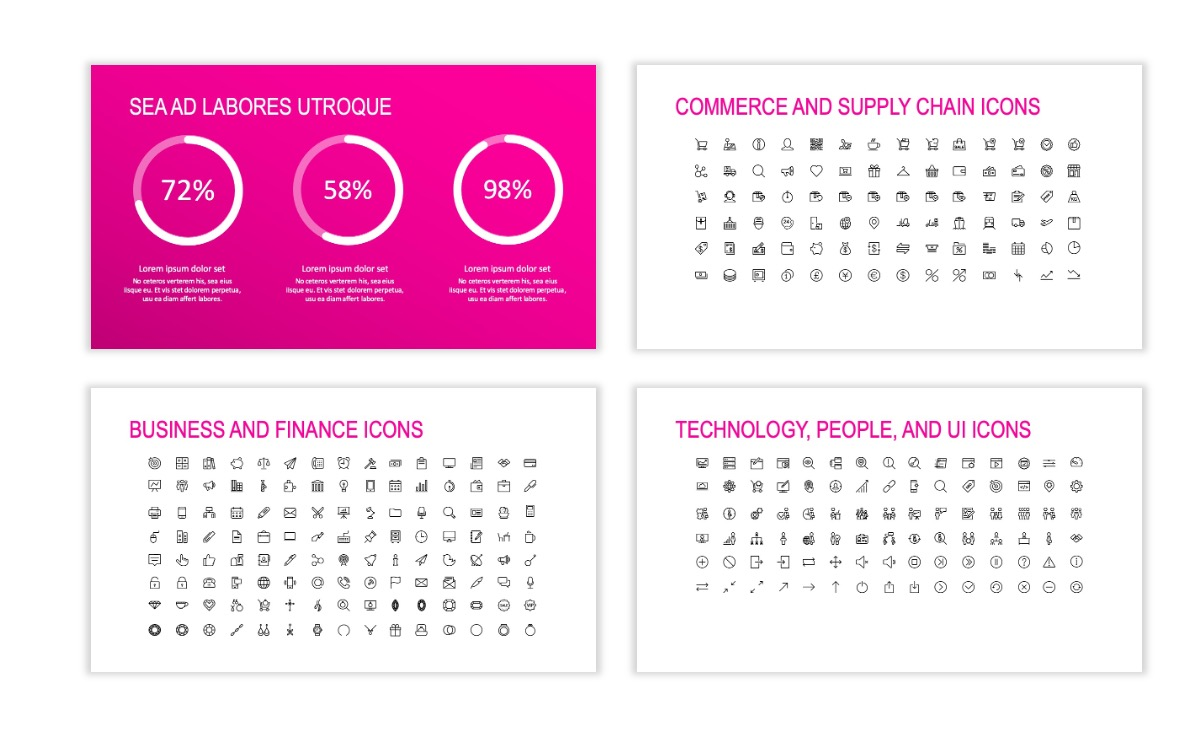 ROME - Fitness - Pink - Aesthetic - Clean - Minimal Slide 25