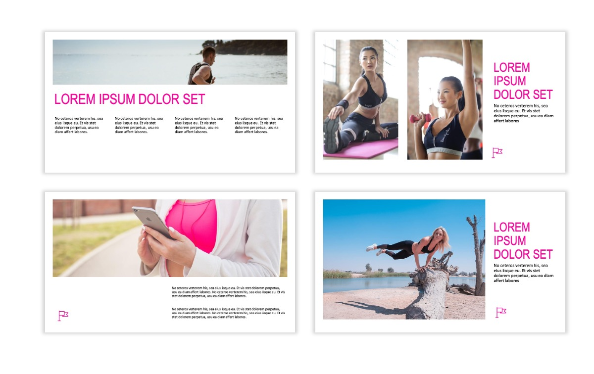 ROME - Fitness - Pink - Aesthetic - Clean - Minimal Slide 4