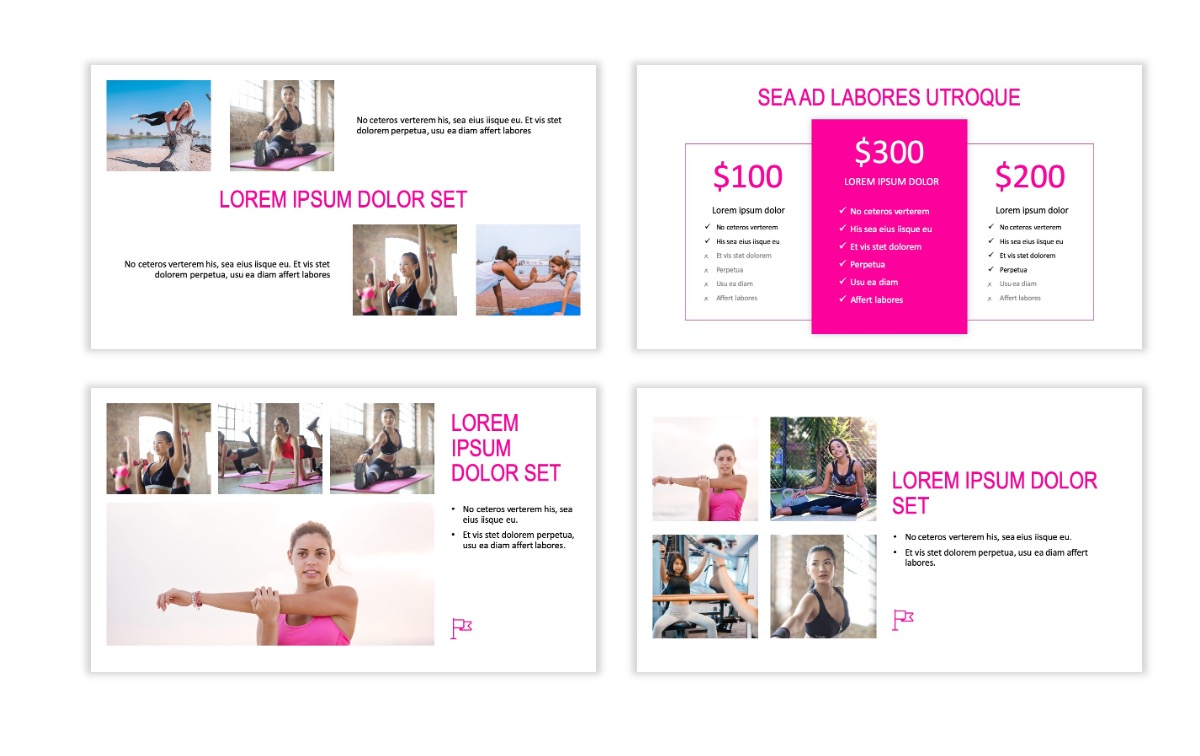 ROME - Fitness - Pink - Aesthetic - Clean - Minimal Slide 7