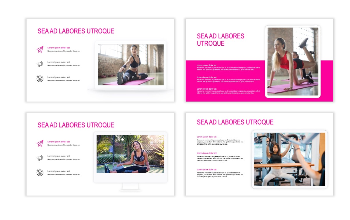 ROME - Fitness - Pink - Aesthetic - Clean - Minimal Slide 9