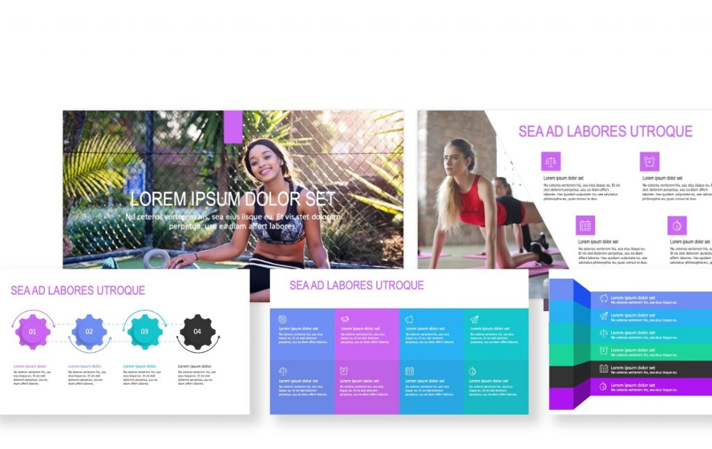 ROME PURPLE FITNESS FREE POWERPOINT TEMPLATE