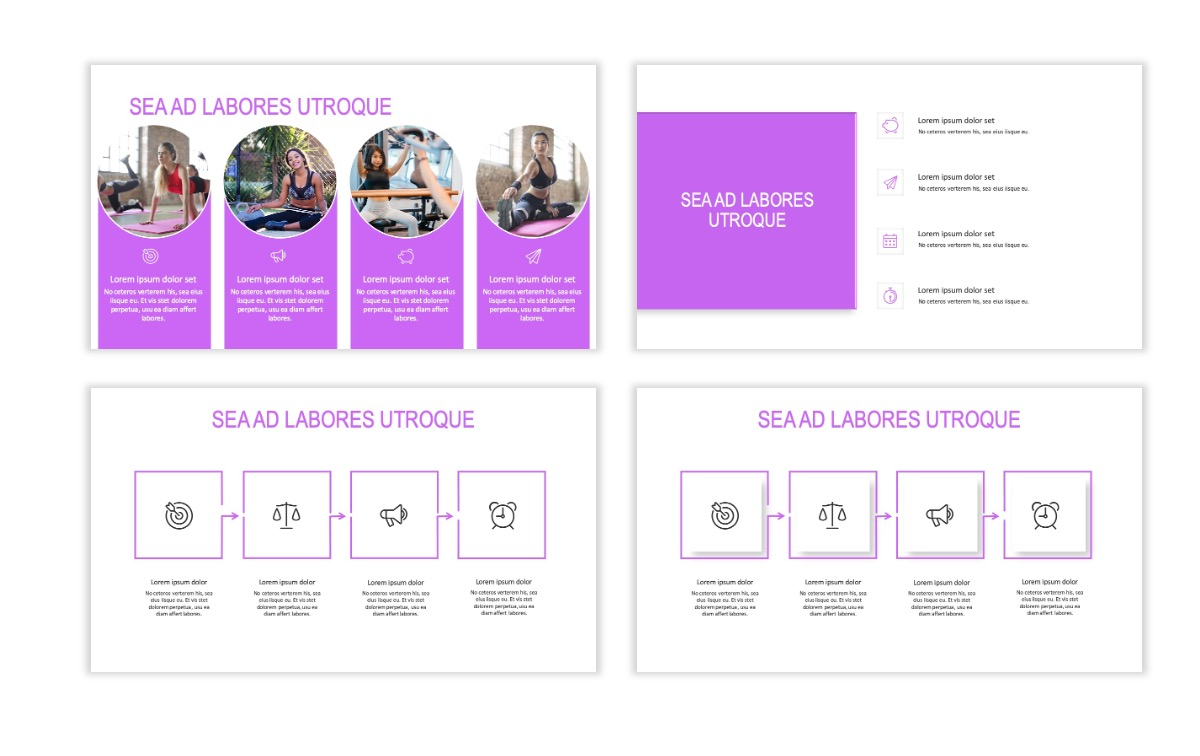 ROME - Fitness - Purple - Aesthetic - Clean - Minimal Slide 14