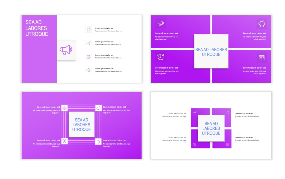 ROME - Fitness - Purple - Aesthetic - Clean - Minimal Slide 15