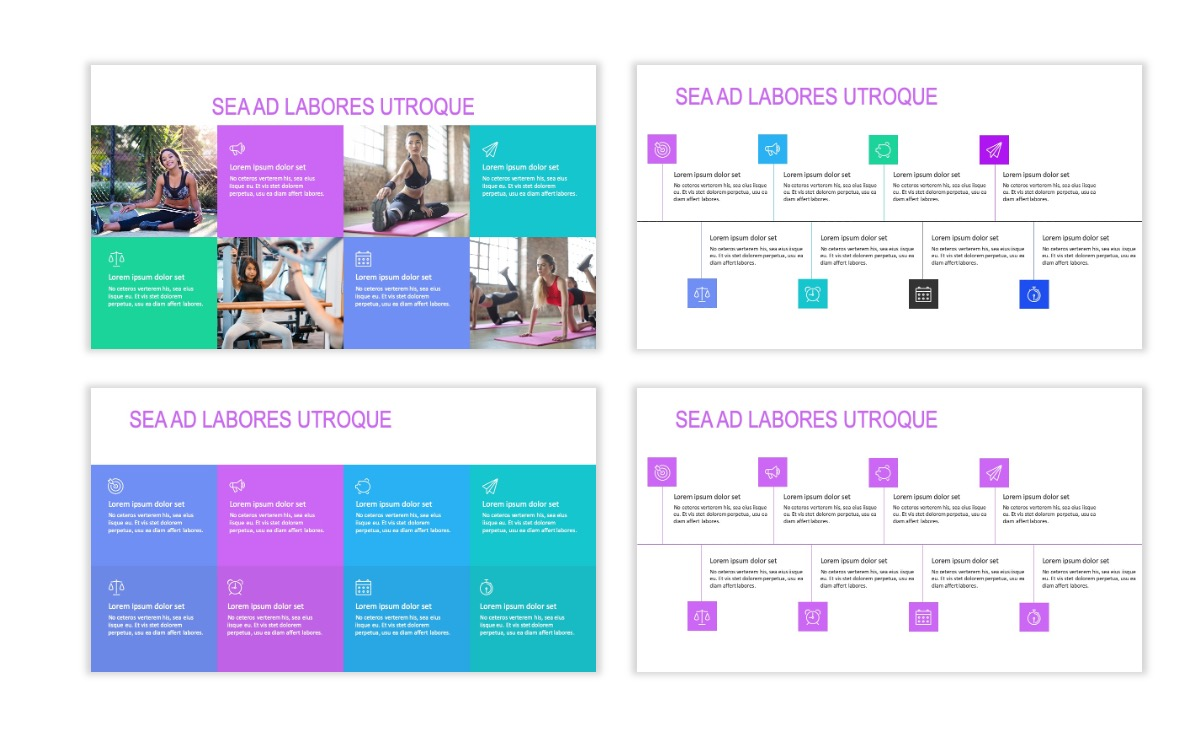 ROME - Fitness - Purple - Aesthetic - Clean - Minimal Slide 18