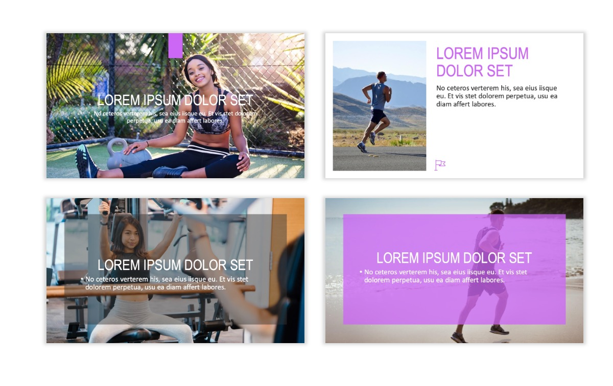 ROME - Fitness - Purple - Aesthetic - Clean - Minimal Slide 2