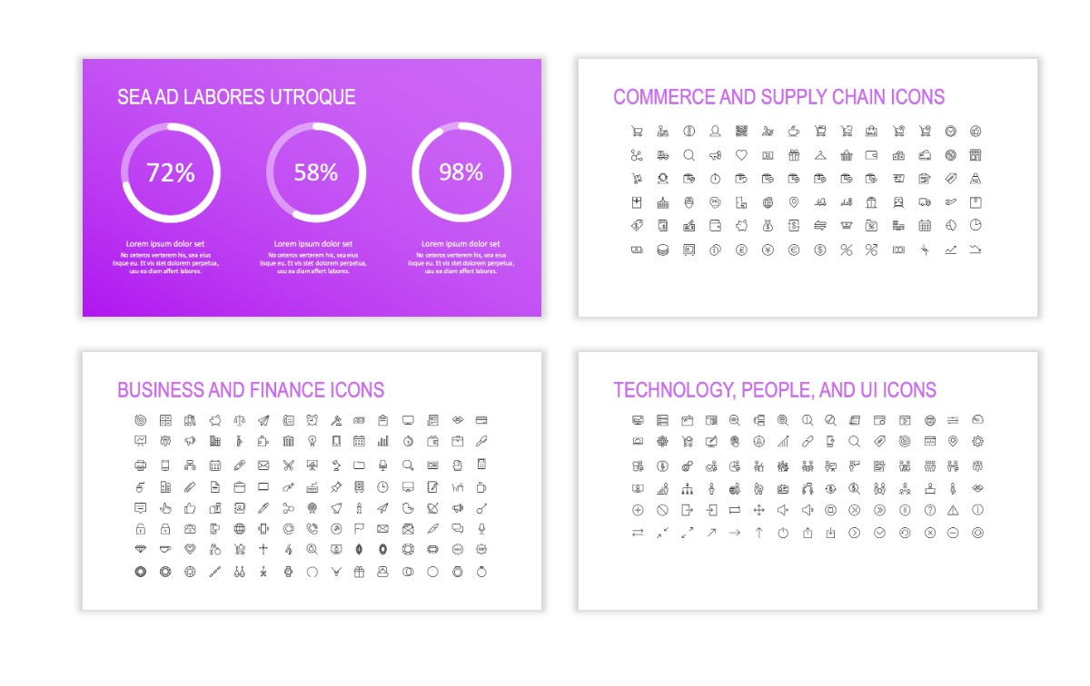 ROME - Fitness - Purple - Aesthetic - Clean - Minimal Slide 25