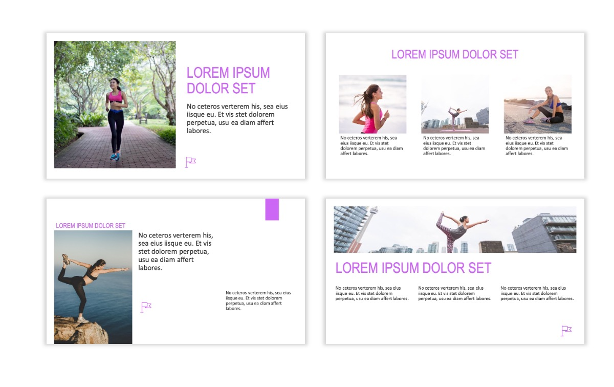 ROME - Fitness - Purple - Aesthetic - Clean - Minimal Slide 3