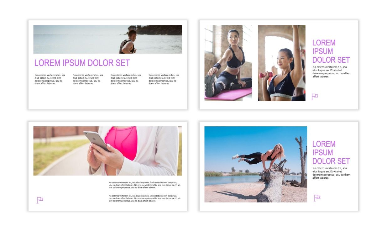 ROME - Fitness - Purple - Aesthetic - Clean - Minimal Slide 4