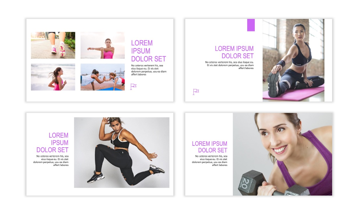 ROME - Fitness - Purple - Aesthetic - Clean - Minimal Slide 5