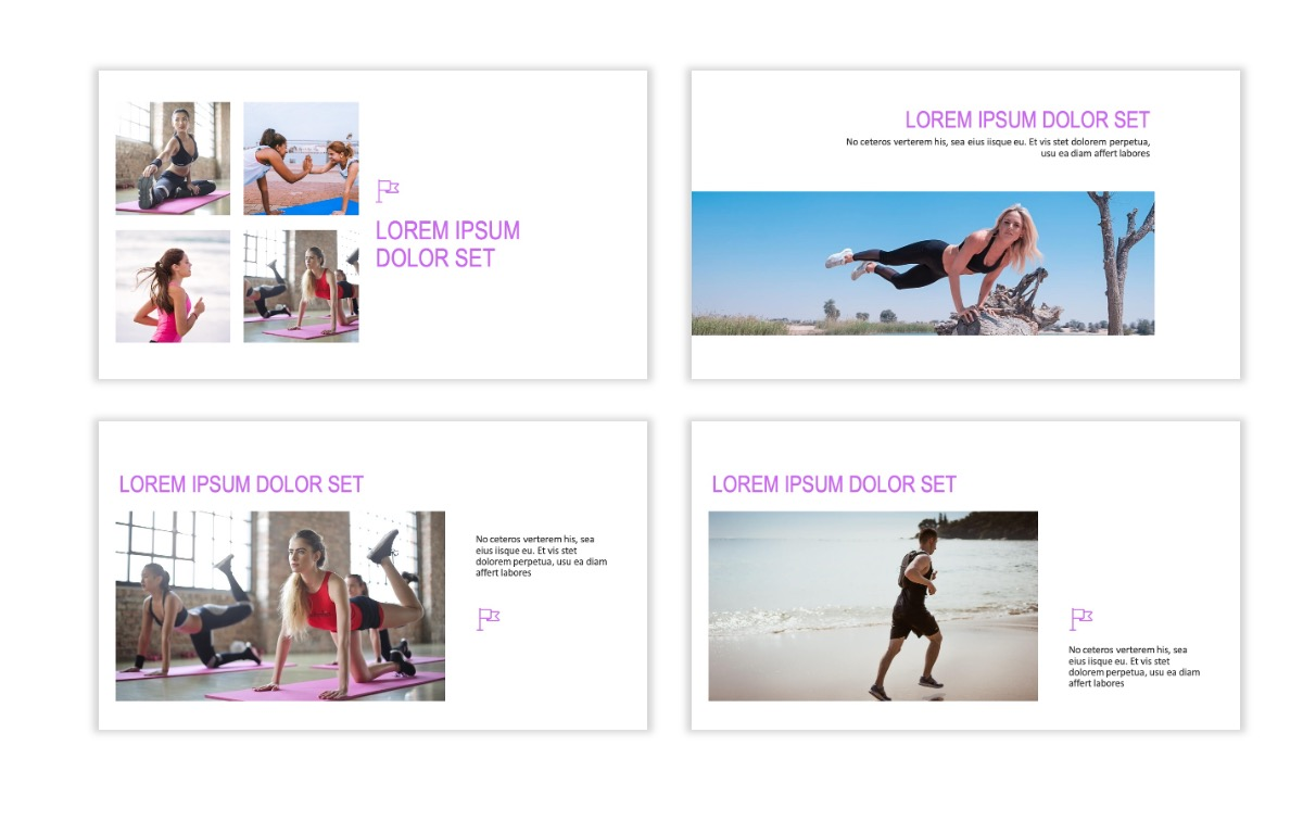 ROME - Fitness - Purple - Aesthetic - Clean - Minimal Slide 6