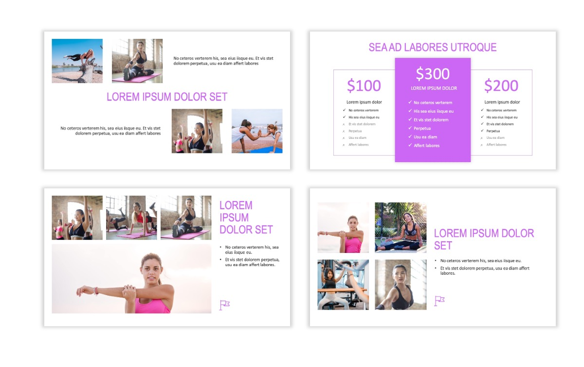ROME - Fitness - Purple - Aesthetic - Clean - Minimal Slide 7
