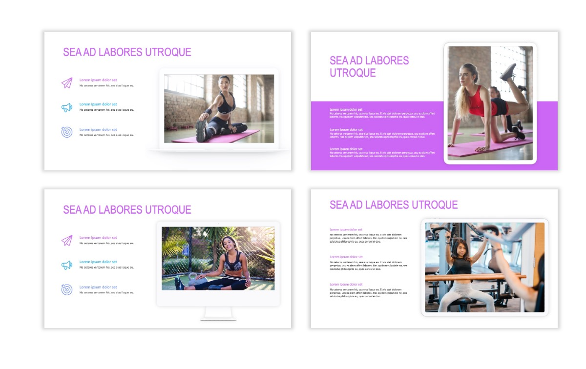 ROME - Fitness - Purple - Aesthetic - Clean - Minimal Slide 9
